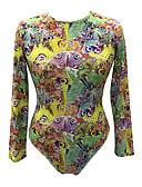 cheap Bodysuit-Women's Basic Bodysuit - Geometric / Rainbow Print