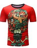 povoljno Muške majice i potkošulje-Majica s rukavima Muškarci - Osnovni Dnevno Geometrijski oblici Print