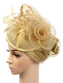 cheap Fashion Headpieces-Women's Vintage / Elegant Fabric Cubic Zirconia Headband / Hair Clip / Fascinator - Solid Colored Flower / Wedding / All Seasons