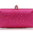 olcso Női szőrme és műszőrme kabátok-Női Táskák Szatén Estélyi táska Kristály díszítés Arcpír rózsaszín / Fukszia / Forgásc