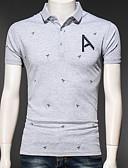 זול טישרטים לגופיות לגברים-אותיות צווארון חולצה טישרט - בגדי ריקוד גברים / שרוולים קצרים