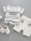 ieftine Set Îmbrăcăminte Bebeluși-Bebelus Unisex Dungi Manșon scurt Set Îmbrăcăminte
