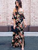 זול שמלות נשים-סירה רחב עד הברך שמלה נדן ליציאה בגדי ריקוד נשים