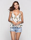 ieftine Bluze & Camisole Femei-Pentru femei Cu Bretele Tank Tops Concediu Floral