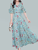 cheap Women's Dresses-Women's Street chic / Sophisticated Sheath Dress - Floral Print
