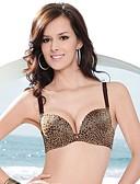 preiswerte Büstenhalter-Damen Sexy BH Gepolsterte BHs / Bügel-BH 3/4 Körbchengröße - Leopard