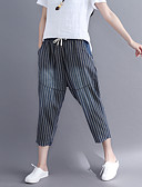 ieftine Pantaloni de Damă-Pentru femei Bumbac Pantaloni Chinos Pantaloni Dungi