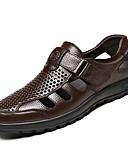hesapli Erkek Gömlekleri-Erkek Ayakkabı Nappa Leather / Deri Yaz Rahat Oxford Modeli Dış mekan için Siyah / Kahverengi