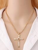 cheap Women's Pants-Men's Pendant Necklace - Cross, Faith Rock, Korean Gold, Silver 48 cm Necklace 1pc For Daily