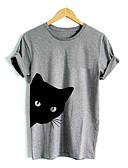 ieftine Tricou-Pentru femei Tricou Ieșire Animal Pisica