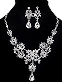cheap Mother of the Bride Dresses-Women's Jewelry Set - Cubic Zirconia, Imitation Diamond Drop Party, Double-layer, Fashion Include Earrings / Bib necklace White For Party / Special Occasion / Anniversary / Necklace