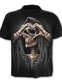 abordables Camisetas y Tops de Hombre-Hombre Activo / Básico Camiseta Geométrico / Cráneos