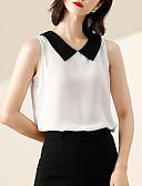 baratos Camisas Femininas-Mulheres Blusa Sólido Colarinho de Camisa