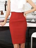 tanie Print Dresses-Damskie Puszysta Moda miejska / Wyrafinowany styl Bodycon Spódnice - Praca Solidne kolory Rozcięcie / Szczupła