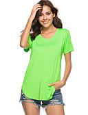 ieftine Tricou-Pentru femei Tricou De Bază - Mată