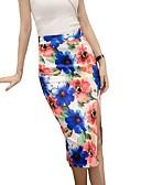 baratos Vestidos de Mulher-Mulheres Moda de Rua Lápis Saias - Floral