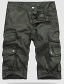 povoljno Muške košulje-Muškarci Pamuk Slim Kratke hlače Hlače Jednobojni