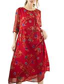 זול חלוקים & Sleepwear-מידי פרחוני - שמלה סווינג בגדי ריקוד נשים