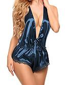 billige Nattøj til damer-Dame Satin og silke Nattøj - Åben ryg, Ensfarvet