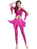 Χαμηλού Κόστους Αξεσουάρ Χορού-Χορός της κοιλιάς Σύνολα Γυναικεία Εκπαίδευση Μοντάλ Διαφορετικά Υφάσματα / Λουράκι Μισό μανίκι Χαμηλή Μέση Κορυφή / Παντελόνια