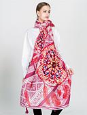 ieftine Eșarfe Femei-Pentru femei Imprimeu Tropical Leaf Franjuri Vintage / Nuntă Dreptunghi