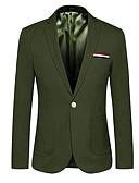 ieftine Maieu & Tricouri Bărbați-Bărbați Ieșire / Muncă Regular Blazer, Bloc Culoare În V Manșon Lung Poliester Bleumarin / Verde Militar / Kaki 4XL / XXXXXL / XXXXXXL