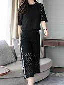 זול חליפות שני חלקים לנשים-מכנס אחיד - סט בגדי ריקוד נשים