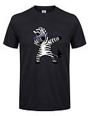 tanie Koszulki i tank topy męskie-T-shirt Męskie Bawełna Okrągły dekolt Zwierzę / Krótki rękaw