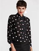 ieftine Bluze de Damă-Pentru femei Guler Cămașă Bluză Muncă Buline