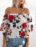 cheap Women's Blouses-women's blouse - floral off shoulder