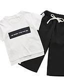 povoljno Hlače za dječake-Dijete koje je tek prohodalo Dječaci Osnovni Jednobojni Kratkih rukava Komplet odjeće