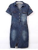 baratos Vestidos Estampados-Mulheres Básico Evasê Vestido Altura dos Joelhos