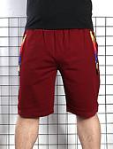 billige Herreundertøj og -sokker-Herre Bomuld Løstsiddende Chinos / Shorts Bukser - Ensfarvet Sort
