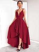 preiswerte Cocktailkleider-Damen Anspruchsvoll Schmetterling Ärmel Swing Kleid - Rückenfrei, Solide Maxi Schwarz & Rot