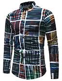 povoljno Muške košulje-Majica Muškarci - Posao / Osnovni Dnevno / Klub Color block Print