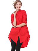tanie Koszula-Koszula Damskie Kołnierz stawiany Solidne kolory