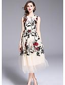 رخيصةأون فساتين مطبوعة-فستان نسائي ثوب ضيق ميدي نحيل مناسب للحفلات / مناسب للخارج / مثير