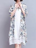 povoljno Ženske haljine-Žene Vintage / Osnovni Pamuk Širok kroj Hlače - Cvjetni print Print Plava / Izlasci
