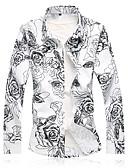 ieftine Tricou Bărbați-Bărbați Cămașă De Bază - Floral Imprimeu