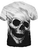 cheap Fashion Watches-Men's / Women's T-shirt - Skull Round Neck / Short Sleeve / Long