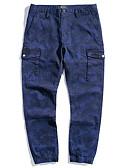 povoljno Muške duge i kratke hlače-Muškarci Osnovni Chinos Hlače kamuflaža