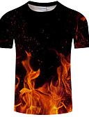 abordables Camisetas y Tops de Hombre-Hombre Básico / Exagerado Estampado Camiseta Geométrico