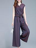 povoljno Dresses For Date-Žene Osnovni / Ulični šik Set - Jednobojni, Vezanje straga Hlače