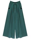 tanie Damskie spodnie-Damskie Luźna Typu Chino Spodnie - Solidne kolory Zielony