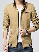 cheap Men's Hoodies & Sweatshirts-Men's Basic Jacket - Solid Colored