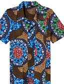 ieftine Tricou Bărbați-bărbați ieșind cămașă - guler geometric de cămașă