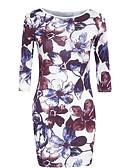 cheap Maxi Dresses-Women's Beach / Weekend Slim Bodycon Dress Cotton Purple XL XXL XXXL / Sexy