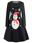 tanie Sukienki-Damskie Vintage / Elegancja Bawełna Szczupła Spodnie - Zwierzę / Płatek śniegu Nadruk Czarny / Święto / Wyjściowe