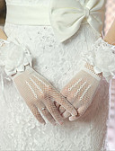 זול חולצה-ספנדקס בד אורך פרק כף היד כפפה סגנון וינטאג' / כפפות עם מוצק