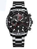 ieftine Ceasuri Digitale-Bărbați Ceas Sport Quartz Calendar Iluminat Aliaj Bandă Analog - Digital Casual Negru / Argint - Argintiu Albastru Argintiu / negru
